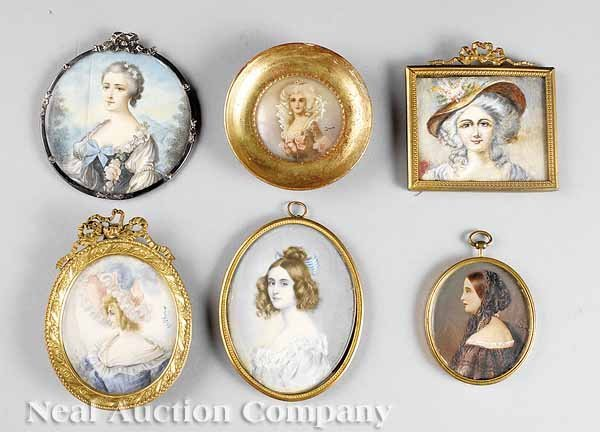 0015: Six French and Continental Portrait Miniatures