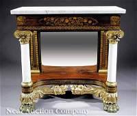 0034 American Classical Mahogany Pier Mirror