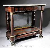 0341 American Classical Carved Mahogany Pier Table