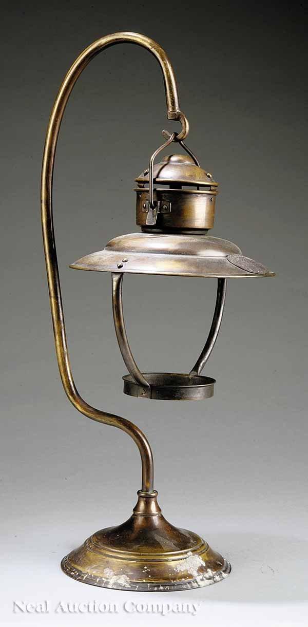 0699A: Brass Lantern Holder from Mahogany Hall