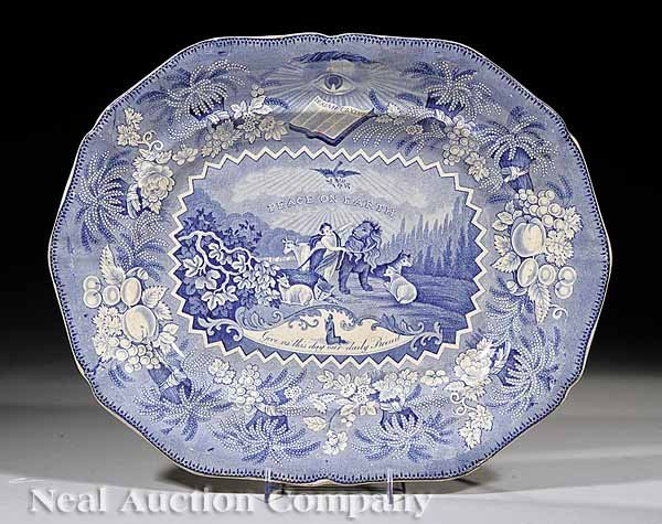 0700: Staffordshire Blue and White Platter
