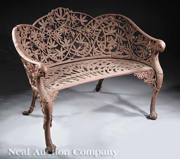 0702: New Orleans Cast Iron Garden Bench