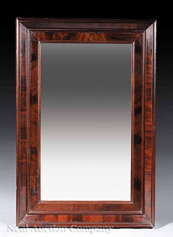 0706: Pair of Late Classical Mahogany Mirrors