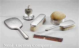 0812: Gorham Sterling Silver-Mounted Dresser Vanity Set