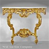 1007 Louis XVStyle Carved Giltwood Console Table