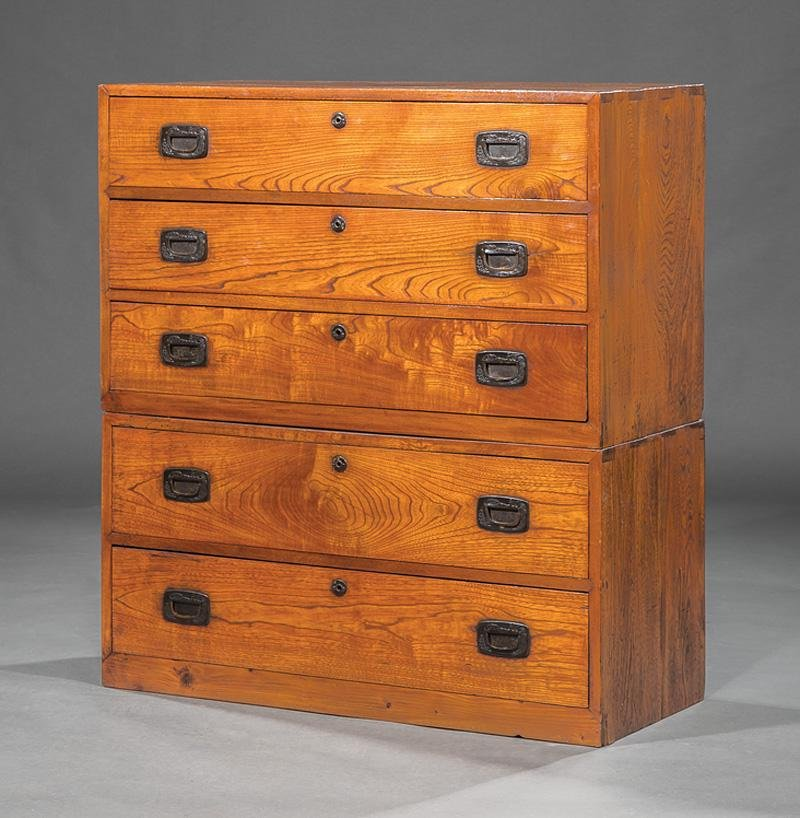 Anglo-Indian Hardwood Campaign Chest of Drawers
