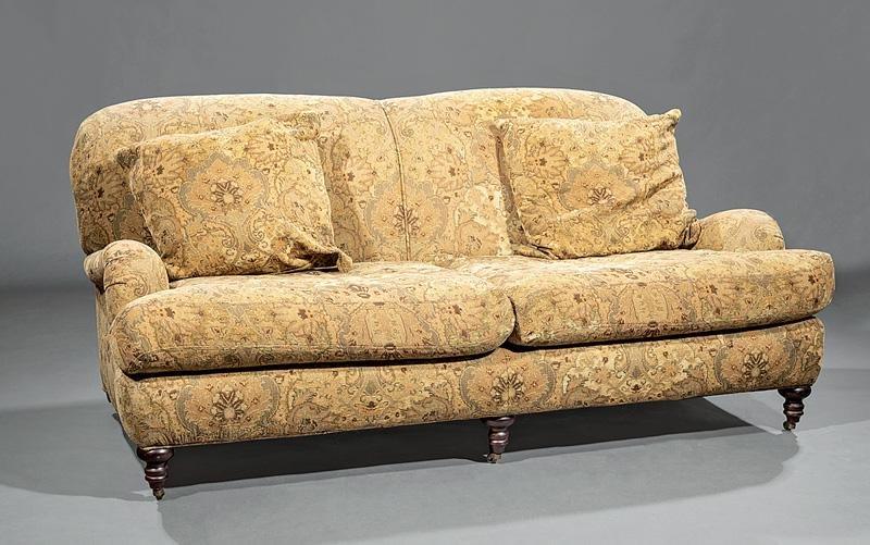 Edwardian-Style Upholstered Sofa