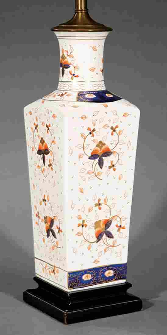 English Imari Porcelain Lamp
