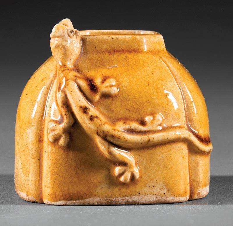 Chinese Mustard Yellow Glazed Porcelain Water Pot
