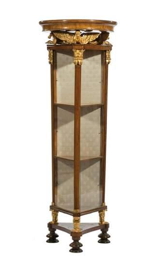 Parcel Gilt Fruitwood Vitrine Cabinet