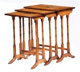 Polychromed Satinwood Nesting Tables