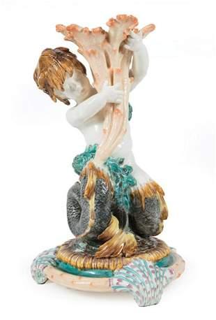 Wedgwood Majolica Figural Centerpiece