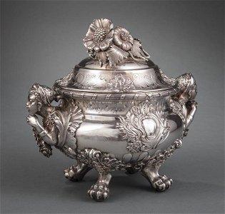 Lenglet Silver Figural Tureen