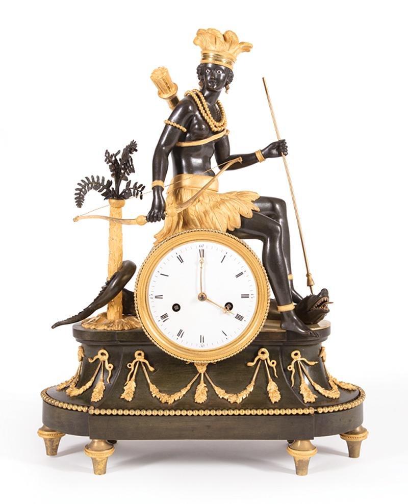 Bronze Mantel Clock, attr. Deverberie