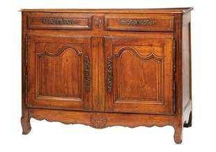 Provincial Carved Fruitwood Buffet Bas