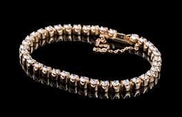 Yellow Gold and Diamond Tennis Bracelet