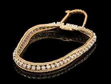 Yellow & White Gold, Diamond Bracelet