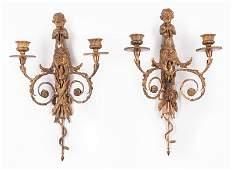 Napoleon III Gilt Bronze Sconces