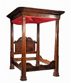 Classical Carved Mahogany Tester Bed
