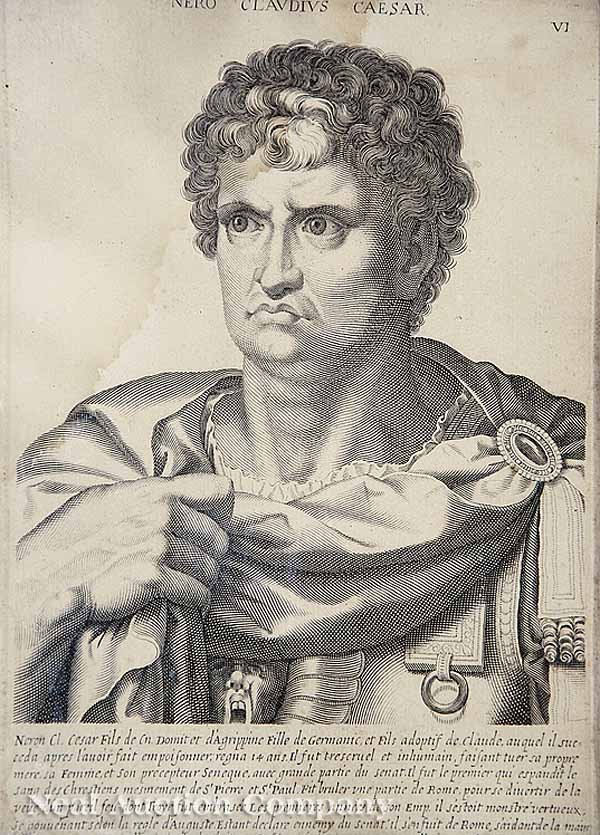 5: Eight Antique Engravings of Roman Emperors