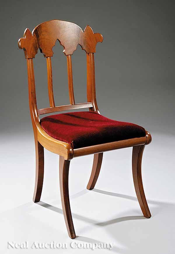 15: American Gothic Revival Mahogany Side Chair