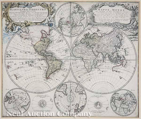 20: Homann Heirs (German, 18th c.) World Map