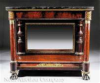 75 American Classical Carved Mahogany Pier Table