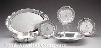 231: Group of German Silver Serving Pieces