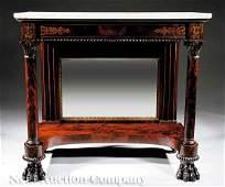 413 Classical Gilt Stenciled Mahogany Pier Table