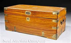 494: Chinese Brass-Bound Camphorwood Campaign Chest