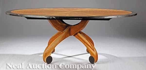 664: Contemporary Cherrywood Dining Table, Gottsegen