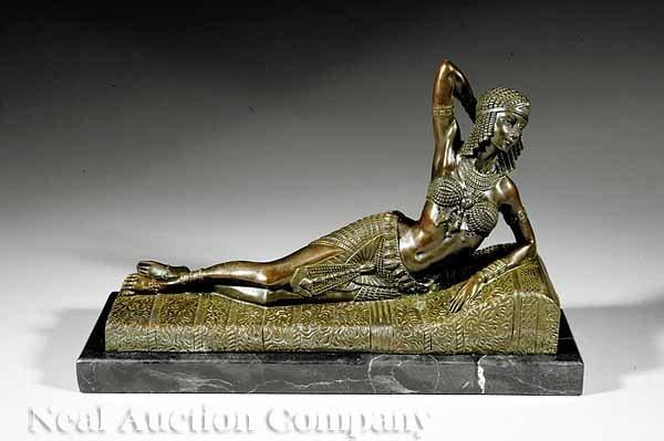 670: Continental Art Deco-Inspired Bronze Figure