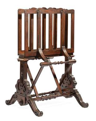 American Carved Rosewood Portfolio Stand