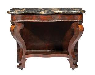 American Late Classical Carved Mahogany Pier Table