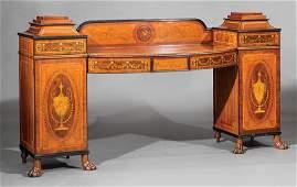 Edwardian Satinwood Inlaid Mahogany Sideboard