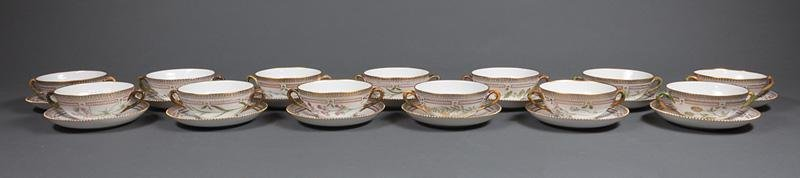 "Royal Copenhagen ""Flora Danica"" Cream Soup Bowls"