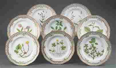 "Royal Copenhagen ""Flora Danica"" Dinner Plates"