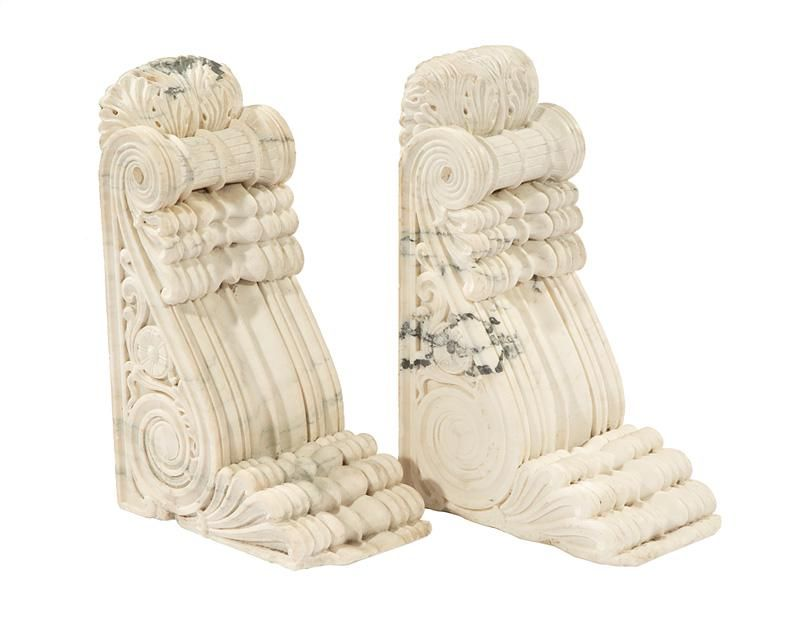 Continental Carved Marble Garden Brackets