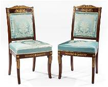 Carved BronzeMounted Gilt Mahogany Side Chairs