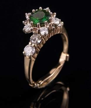 14 kt Yellow Gold Gemstone and Diamond Ring