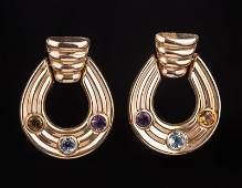 Pair of 14 kt Yellow Gold Hoop Earrings