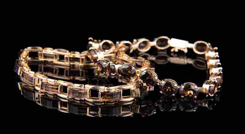 14 kt. Yellow Gold and Smoky Quartz Jewelry