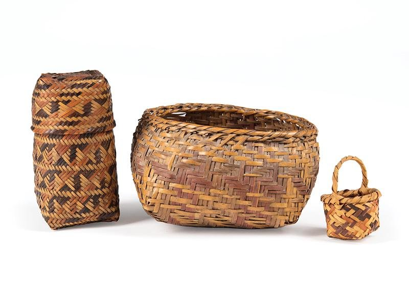 Chitimacha Double Weave Covered Trinket Basket