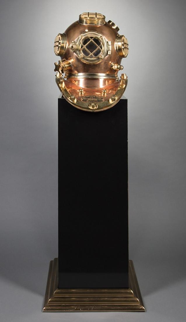 Reproduction U.S. Navy Copper Brass Diving Helmet