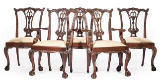 Millender Carved Mahogany Dining Chairs