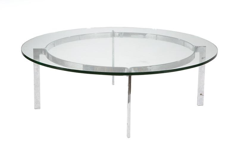 Mid-Century Modern Chrome and Glass Table