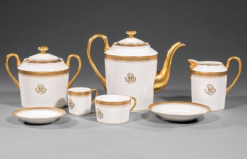 Limoges Porcelain Coffee Service