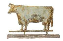 American Patinated Metal Cow Weathervane