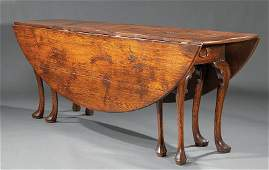 English Carved Oak Wake Table