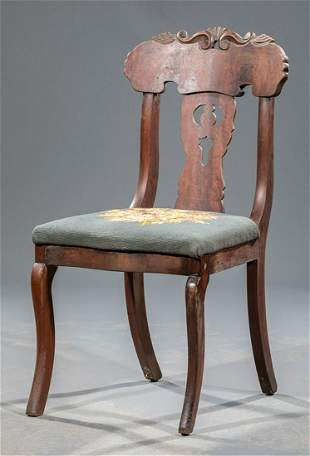 Late Classical Mahogany Side Chair